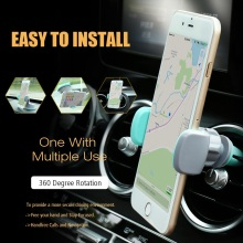 KISSCASE Car Styling Phone Holder Air Vent Outlet Mount For iPhone 7 6 5S Samsung S8 S7 Huawei Xiaomi Holders Mobile Phone Stand