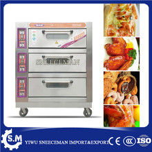 3layers 9trays pizza making oven electric cookie baking machine(China)