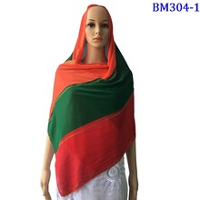 Chiffon Hijab Scarf  Summer Scarf for Shawls Wraps Pashmina 2 pieces one lot Color Stitching Nice Headscarf