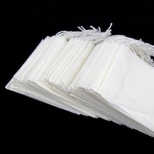 UESH-White Disposable Line Pumping Tea Filter Paper Bags, Set of 100 (L Size)