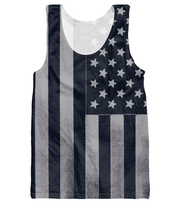 Americana Tank Top Summer Style American Flags dark patriotic design Vest Women Men Fashion Clothing Jersey Tops Plus size(China)
