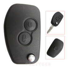 1pcs/lot Modified Replacement Shell Folding Flip Keyless Entry Remote Key Case Fob 2 Button For Renault Megane Modus Espace