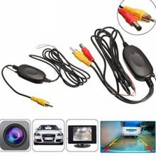 2.4G Wireless RCA Video Transmitter Receiver Kit for Car DVD Monitor Rear View Camera Reverse Backup Rearview Camera Cam(China)