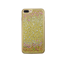 Diamond Crystal Design Cover Cell Phone Accessories for iPhone6 6s 7 Plus Pattern Phone Soft Shell Luxury Rhinestone Frame Cases(China)