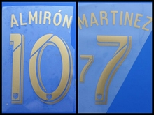 2017 2018 Atlanta United FC MLS 10 ALMIRON 7 MARTINEZ custom football number font print ,stamping Soccer patch badge