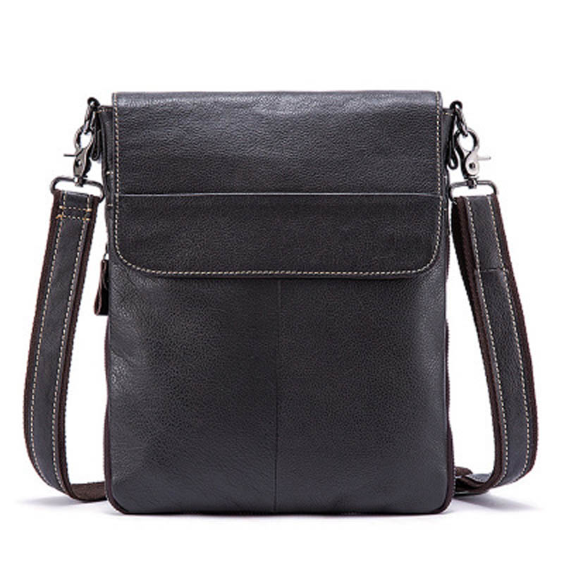 YISHEN Genuine Leather Male Shoulder Messenger Bags Casual Solid Men Crossbody Bags Travel Bags Business Male Flap Bags MLT8008<br>