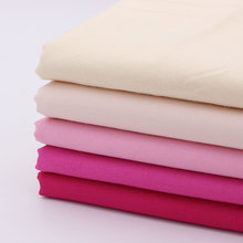 Pink Fabric For Dress Sewing Textile Breathable cotton Fabrics Diy Cloth tissu Home Textile Woven Telas tecidos(China)