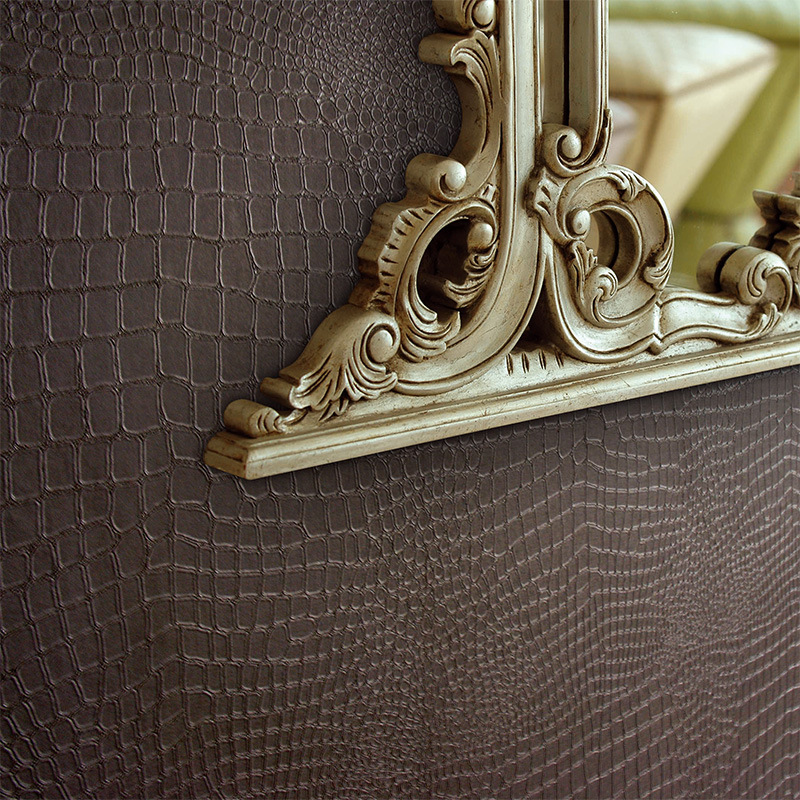 Alligator Pattern PVC Wallpaper Waterproof Thickened Deep Embossed Wall Paper Rolls Modern Living Room TV Background Home Decor<br>