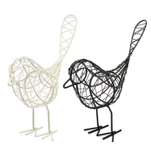 1Pcs Vintage Metal Craft Wire Iron Bird Model Decorative Ornament Home Living Room Office Desktop Decoration Craft Gift