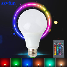 Szvfun 10W 5W 3W LED Bulb E27 RGB Led Energy Saving Lamp Dimmable 220V 110V Colors Changing Lampara for Home with Remote Control(China)