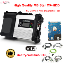 2017 hot sale WIFI MB star C5 with HDD 2017.12 C5 Full Set SD connect c5 diagnostic tool For car&truck better than mb star C4(China)