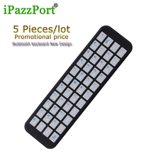iPazzport 5 Pieces New mini wireless Buletooth keyboard 2.4GHz BT4.0 Full QWERTY keyboards for Apple TV 4/Android /GoogleTV