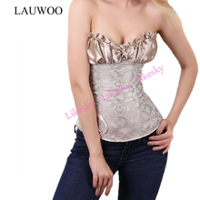 LAUWOO Free Shipping Sexy Vintage Corsets and Bustiers Waist Corset Renaissance Lingerie Lacing Corset Tops For Wedding Dress(China)