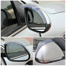 For Ford Focus Edge Fiesta New Universal Rearview Mirror Rain Eyebrow Side Mirror Rain Shade Shield Water Guard 1Pair