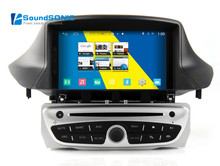 Quad Core Android 4.4 Car DVD GPS Navigation Player For Renault Megane III 3 Fluence Car Audio Video Car Radio Stereo Multimedia