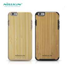 Original Nillkin Knights Bamboo Wood Case for iPhone 6s 6 Bamboo Back Cover Case for iPhone 6 plus 6S plus Phone Case(China)