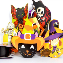 Candy Gift Bag Classic Smile Pumpkin Handheld Bags Halloween Decoration Ornament Props Children Gift Bags P20