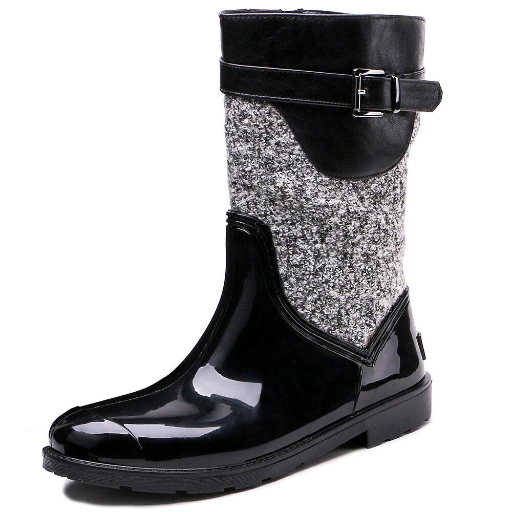TONGPU Womens Sharon Fashionable PVC Rain Boots Ladys Short Winter Boots 154-270<br>
