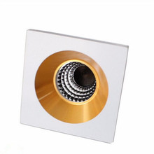 Newest Free Shipping 10pcs Dimmable Mini LED Cabinet Downlight 5W COB Light AC85-265V Jewelry Lamp Bookcase LED Ceiling