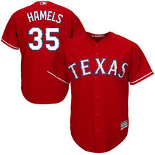 MLB Men's Texas Rangers Cole Hamels Baseball Red Alternate Cool Base Player Jersey(China)