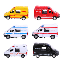 Force Control Pull Back Alloy Car Toys Police Car Ambulance Fire Fighting Truck Model Toys Birthday Xmas Gift For Kids Cars Toys(China)