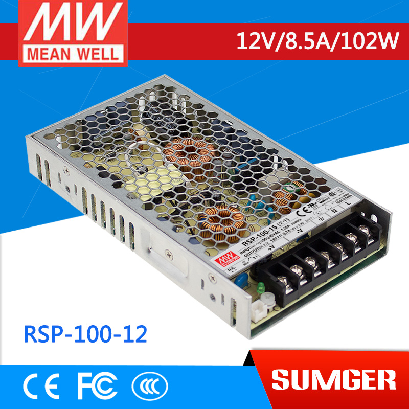 [MEAN WELL1] original RSP-100-12 12V 8.5A meanwell RSP-100 12V 102W Single Output with PFC Function Power Supply<br>