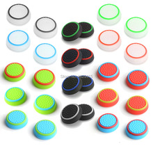 28 pcs Silicone Analog Thumb Stick Grips Cover for Playstation 4 PS4 Pro Slim Controller Thumbsticks Caps for Xbox 360 One S(China)
