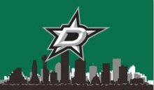 Dallas Stars skyline flag 3x5ft 100D polyester digital printing flag with Metal Grommets