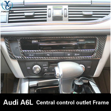 Buy Carbon fiber Central control air conditioner outlet decorative frame Car interior Trim Audi A7L A6L for $27.80 in AliExpress store