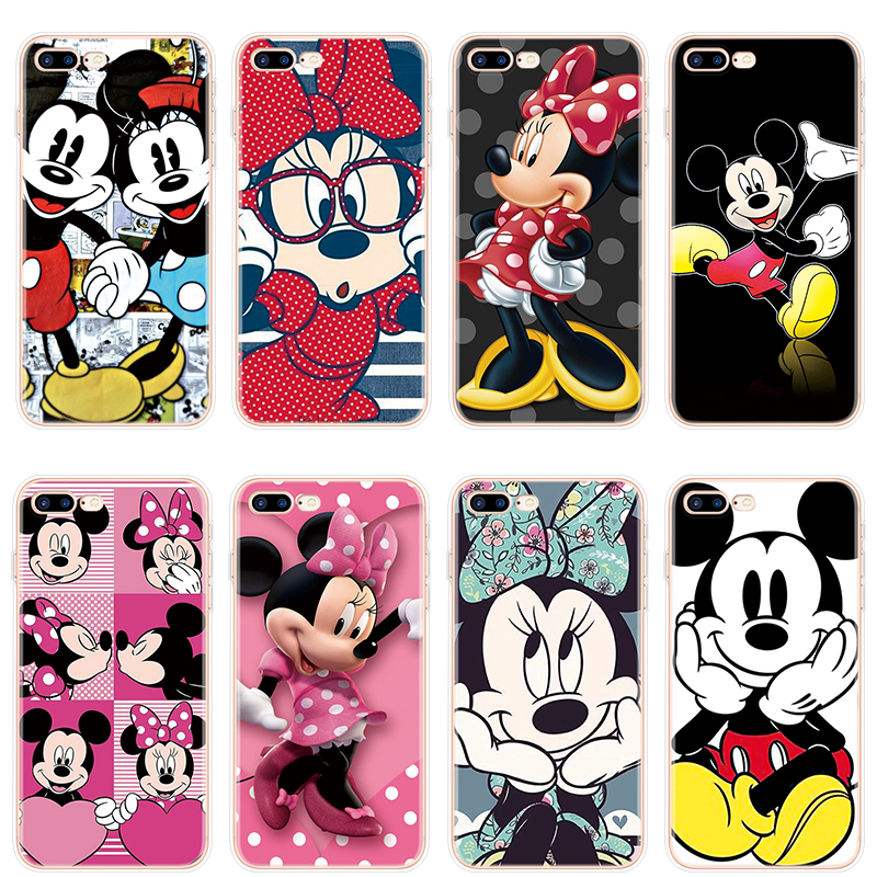 Minnie Mickey for Cover iPhone 6 Case 8 Plus 7 Plus 6 6S XR X 5S 5C 4 4S SE for Fundas iPhone XS Max Cases TPU for iPhone X Case(China)