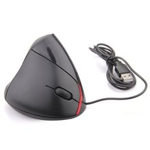 PROMOTION! Hot Sale USB Mouse Vertical Ergonomic Vertical Mouse 1000 DPI LED for PC Computer Black(China)