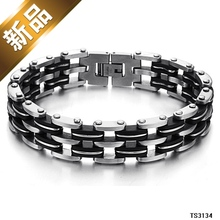 Free shipping Foreign trade jewelry new multi-level creative personality titanium steel 316L bracelet fashion gift Men imports(China)