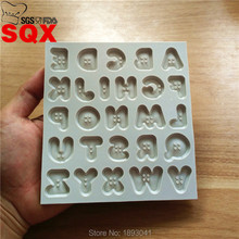 New arrival Creative Button Letters Alphabet Silicone Mold Fondant Cake Decorating Tools Kitchen Accessories SQ16292(China)