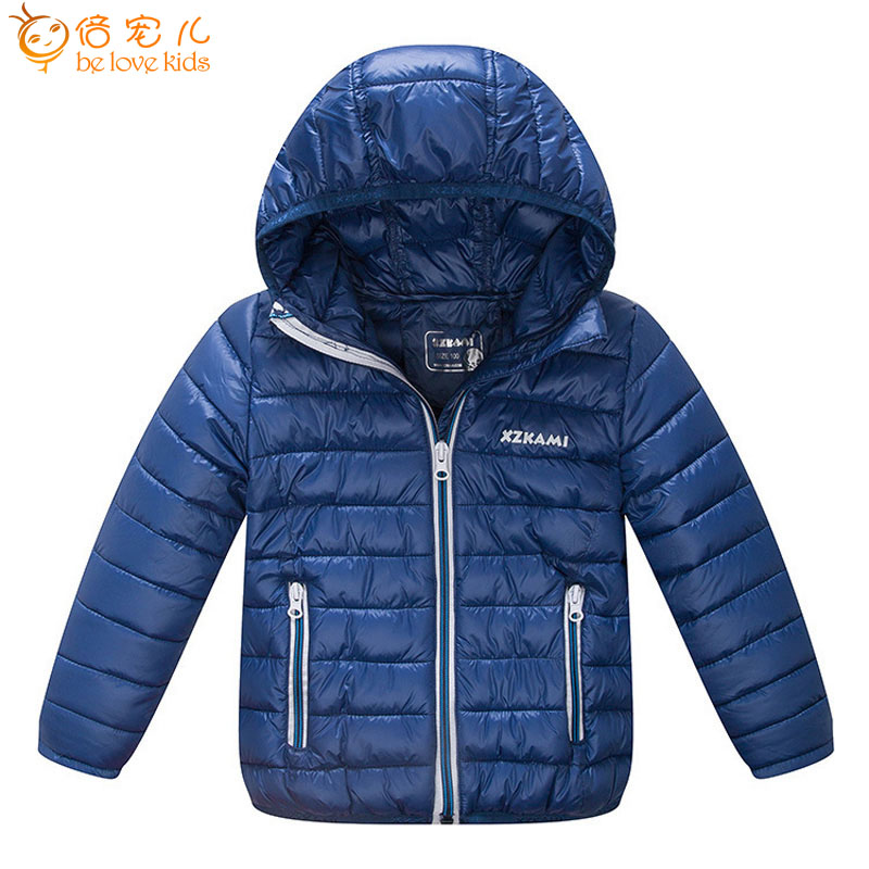 kids coat winter girls jackets children ultra light coat short boys parkas coats hooded warm outwear coat XQ001-2