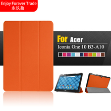 "Adroit Tri-Fold Slim PU Leather Case Cover For Acer Iconia One 10 B3-A10 Tablet PC 10.1"" DEC19 11 color Free Delivery"