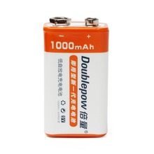 Doublepow 9V 1000mAh LSD Li-ion Rechargeable Battery Prismatic Batteries for Electronic Smoke Guitar