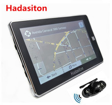 Reverse Parking System,7 inch car GPS Navigation 128M/4GB CPU800Mhz+Wireless Rear View camera+free latest maps(China)