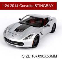 1:24 Diecast Model 2014 Corvette STINGRAY Alloy Car Metal Toys gift modified car simulation model For Collection