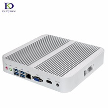 Big Promotion Mini PC Fanless Computer with 6th Gen Skylake Core i3-6100U,Windows10 PC,4*USB3.0,VGA,Suport 3D Games TV BOX