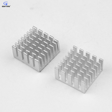 12pcs 20x20x10mm Aluminum Heatsink with 3M Thermally Conductive Adhesive Tape VGA RAM Memory Cooling Cooler Heat Sink 10mm