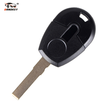 DANDKEY 10pcs/lot Replacement Car Key Blank Case For Fiat Positron EX300 Transponder Key Shell No Chip Fob(China)
