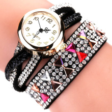 Fashion Brand Watches Women Luxury Rhinestone Popular Bracelet Wristwatch Women Lady Female Dress Cheap Electronic Quartz Watch