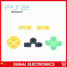 20set Rubber Conductive Contact Button D-Pad Pads Repair For Sony PS2 Controller