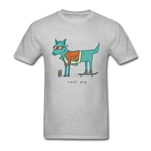 Men T-shirt Funny White Short Sleeve Custom Tee Shirt Men Man's Cool Dog Cartoon Family Clothing