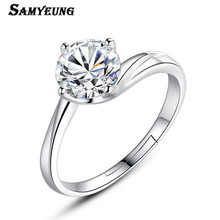 Samyeung Cheap Silver Wedding Open Rings for Womens Adjustable Lovers' Rings Female Alliance Femme Anel Find Trendy Store