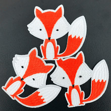 1 Piece Animal Patch for Clothing Iron Cartoon Applique Diy Accessory Suppliers Sticker Fox Patch(China)
