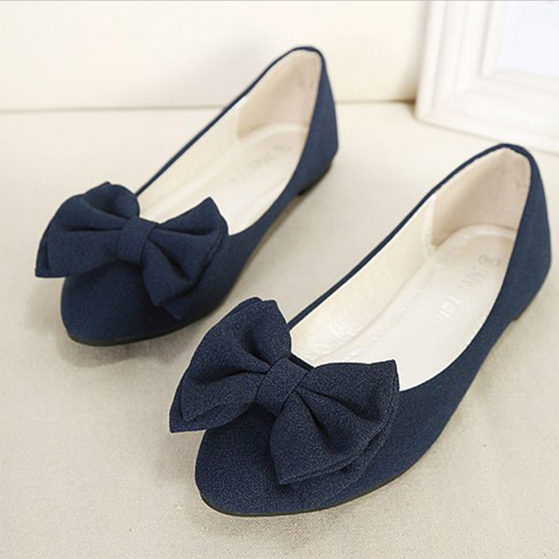 2017 Summer New Large Size Flats Women Shoes Bowtie Leather Shallow Mouth Singles Lady shoes Pregnant Woman Flat Heel Shoes OL<br><br>Aliexpress