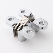 304 Stainless Steel Hidden Hinges 13x45MM Invisible Concealed Door Hinge Bearing 20KG With Screw For Folding Door(China)