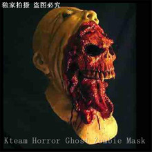 Halloween Cosplay Latex Adult Costume Horror Bloody Zombie Mask Melting Face Walking Dead Scary Party Mask Mardi Gras Ball Masks