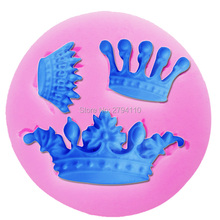 M076 Crown Crafts Silicone Mold Cake Decorating Tools Chocolate Art work Handmade Silicone Mold Baking Fondant Cookie
